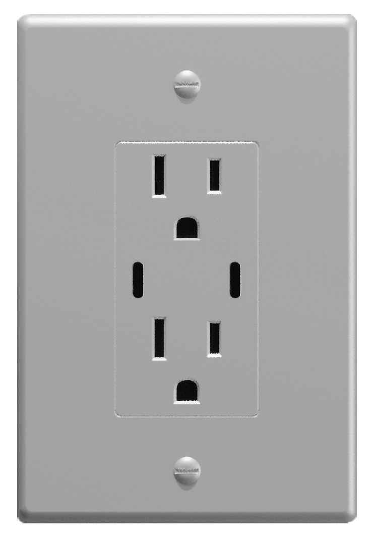120 VAC outlet with USB