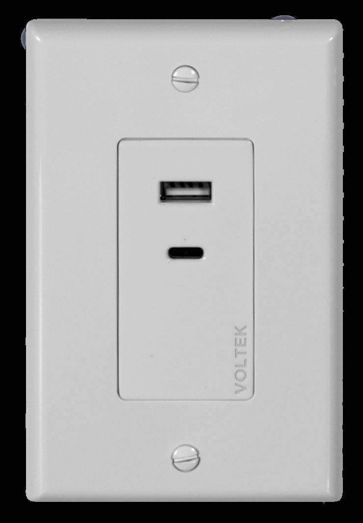 Voltek 2 Port USB Outlet