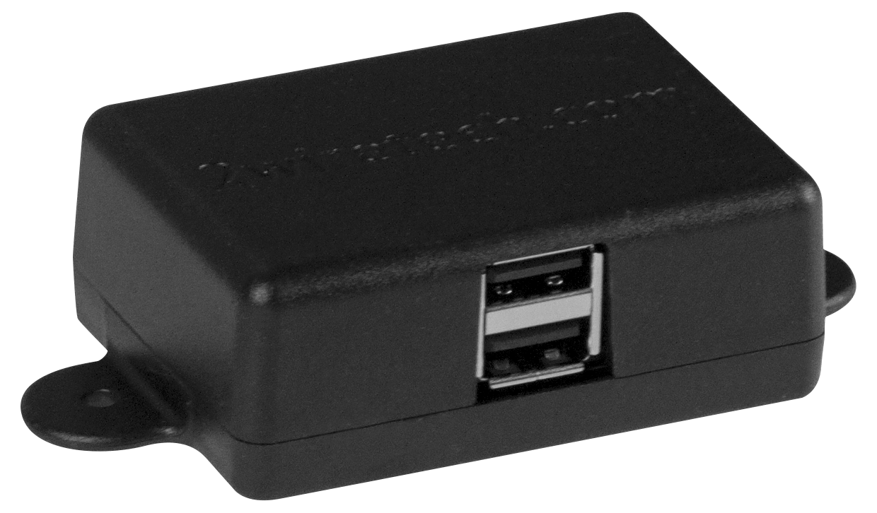 2 Port USB Surface Mount Box front view